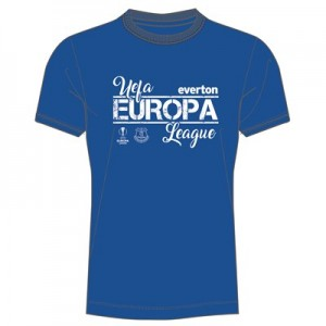 Everton UEFA Europa League T-Shirt - Royal - Junior