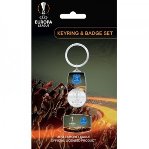 Everton UEFA Europa League Keyring & Badge Set