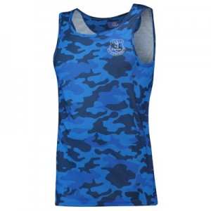 Everton Camo Crest Vest - Blue - Mens