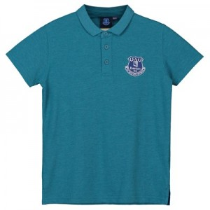 Everton Core Crest Polo - Teal Marl - Kids