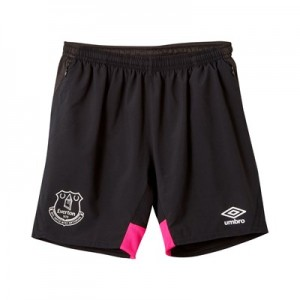 Everton Training Woven Shorts - Black - Kids