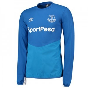 Everton Training Drill Top - Royal Blue