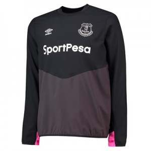Everton Training Drill Top - Black