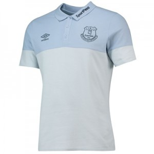 Everton Training Cotton Polo - Light Blue