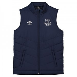 Everton Training Padded Gilet - Dark Blue - Kids