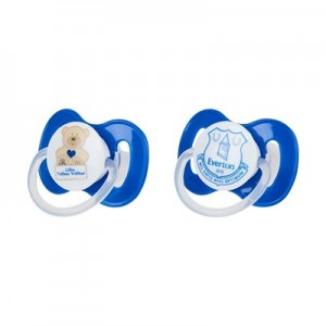 Everton Baby Love and Hugs Soothers - Pack of 2
