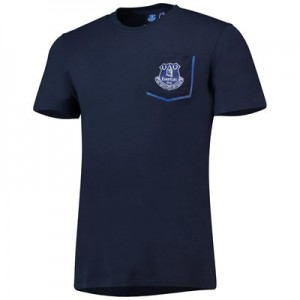 Everton Core Pocket T-Shirt with pop contrast -Navy - Mens
