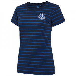 Everton Core Basic Stripe T-shirt -Navy - Womens