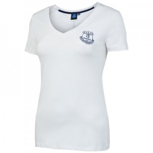 Everton Core Basic Crest Short Sleeve T-Shirt -White - Womens