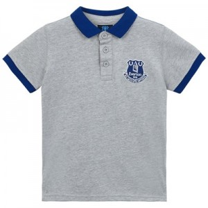 Everton Core Contrast Cuff and Collar Polo - Grey - Infant Boys