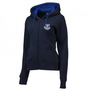 Everton Core Zip Thru Hoodie - Navy - Womens