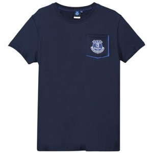 Everton Core Pocket Tee With Pop Contrast Colour-Navy-Junior Boys