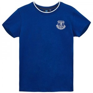 Everton Core Basic Tipped Collar T-Shirt- Royal-Junior Boys