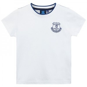 Everton Core Basic Tipped Collar T-Shirt- White- Infant Boys