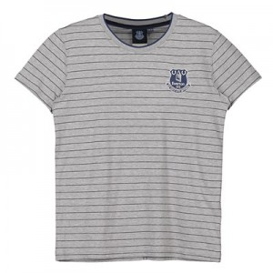 Everton Core Fine Stripe With Tipped Collar T-Shirt- Grey-Infant Boys