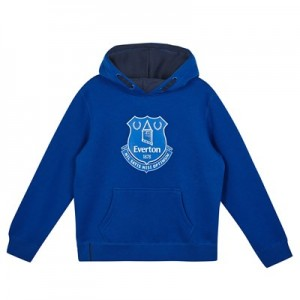 Everton Core Large Crest OTH Hoodie - Royal-Junior Boys