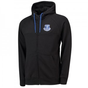 Everton Core Zip Thru Hoodie - Black - Mens