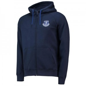 Everton Core Zip Thru Hoodie - Navy - Mens