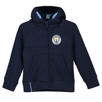 Manchester City Core Zip Thru Hoodie - Navy- Infant Boys