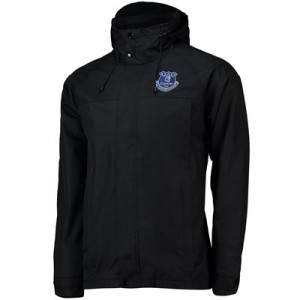 Everton Core Mid Length Match Day Jacket- Black - Mens