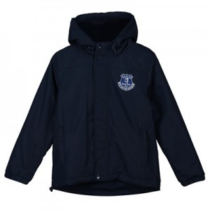 Everton Core Fleece Lined Hooded Jacket-Navy-Junior Boys