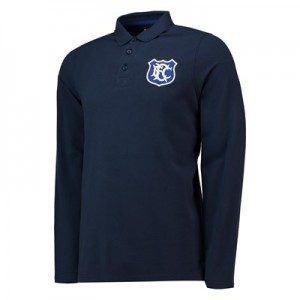 Everton Goodison 1920 Long Sleeve Polo - Navy - Mens