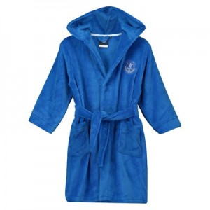 Everton Embossed Fleece Robe - Royal - Girls