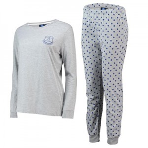 Everton Sweat and Jogger Lounge Set - Grey Marl - Womens