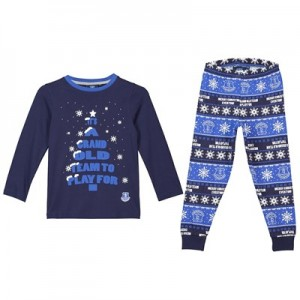 Everton Grand Old Team Christmas PJs - Navy/ Royal - Boys