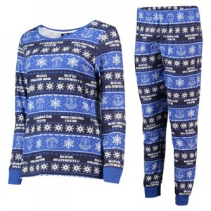 Everton Fairisle Christmas PJs - Royal / White - Womens