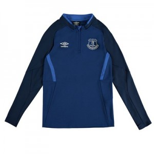 Everton Half Zip Sweatshirt - Dark Blue - Kids