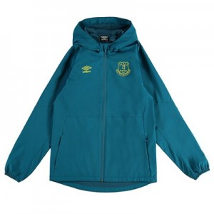 Everton Training Shower Jacket - Blue - Kids