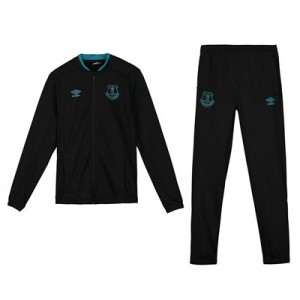 Everton Travel Knitted Tracksuit - Black - Kids