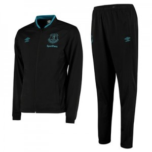 Everton Travel Knitted Tracksuit - Black