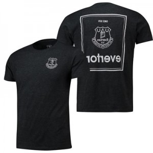 Everton Black To Front T Shirt - Black Marl - Mens