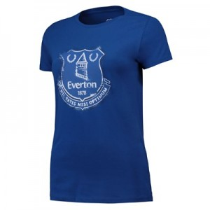 Everton Splatter T Shirt - Royal - Womens