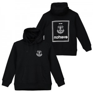 Everton Black To Front Hoodie - Black - Kids