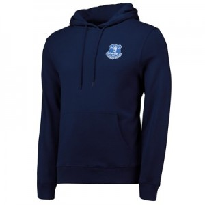 Everton Small Crest Hoodie - Navy - Mens