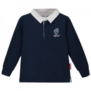Rugby World Cup 2019 Rugby Shirt Long Sleeved - Navy - Junior