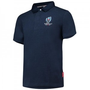 Rugby World Cup 2019 Rugby Shirt Short Sleeved - Blue Marl - Mens