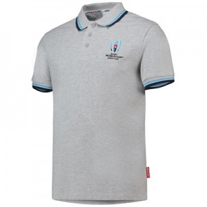 Rugby World Cup 2019 Pique Polo - Grey Marl - Mens