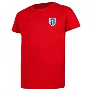 England Small Crest T-Shirt - G Red - Kids