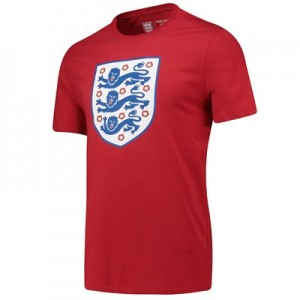 England Large Printed Crest T-Shirt - G Red - Mens