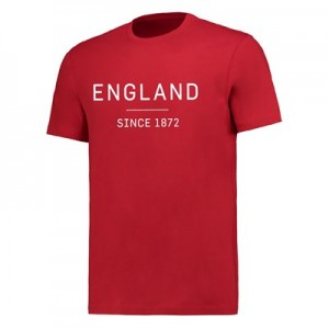 England Graphic Wordmark T-Shirt - G Red - Mens