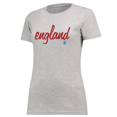England Graphic Type T-Shirt - Grey Marl - Womens