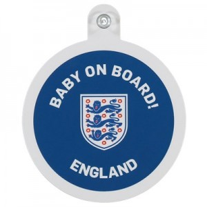 England Wembley Baby On Board Car Sign