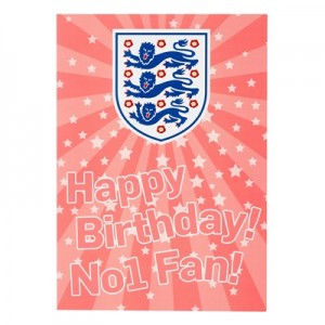 England Happy Birthday Card - Pink