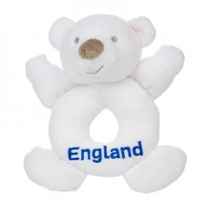 England Rattle Bear - White