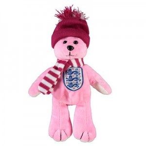 England Bear with Hat and Scarf - Pink