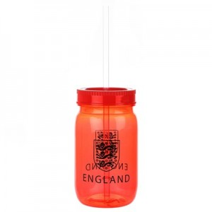 England Jive Mason Jar Beaker - Red